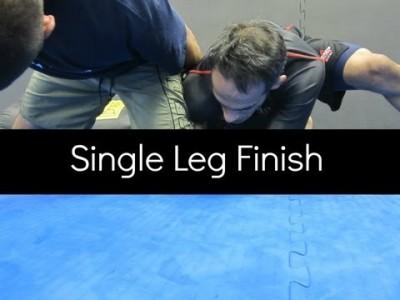 Variante d'un single leg takedown