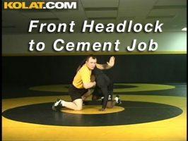 Retournement à partir du front head lock